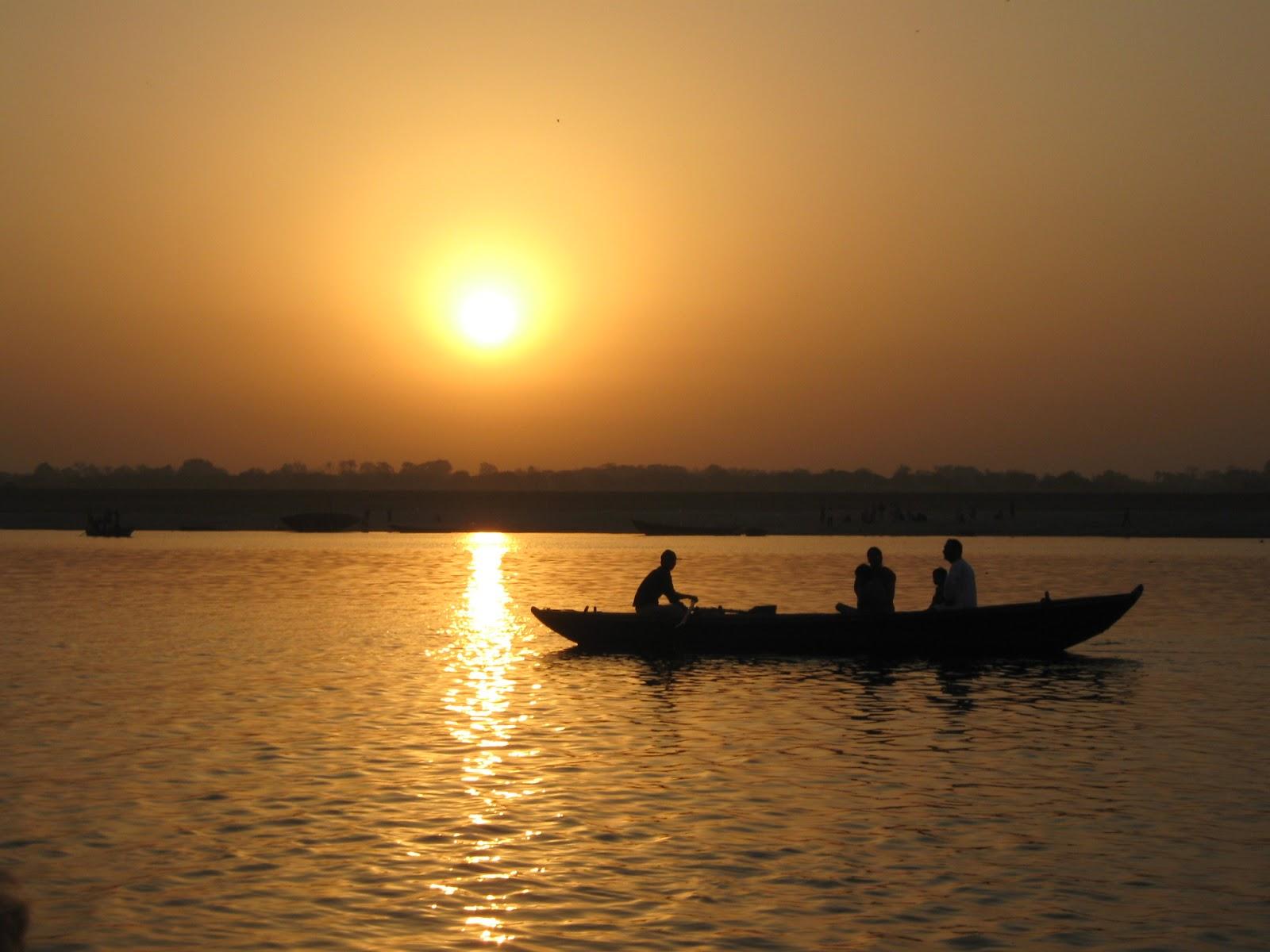 Aube sur le Gange